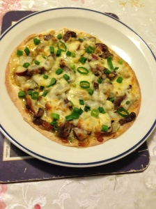 Using tortilla as pizza dough