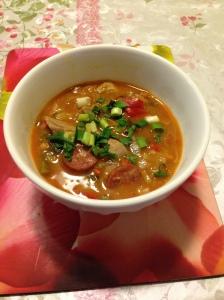 Pork chorizo & vegs lentil soup
