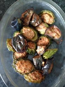 Hakka yong tau foo bitter gourds and eggplants