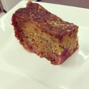 rhubarb dates pudding