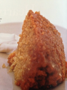 Steamed honey pudding with cream