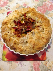 Filo vegetables pie