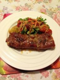 Prosciutto wrap rump with potato and salads.jpg
