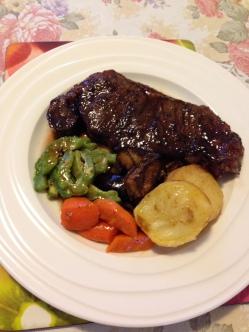 rump steak bittergourd and roasted vegs.jpg