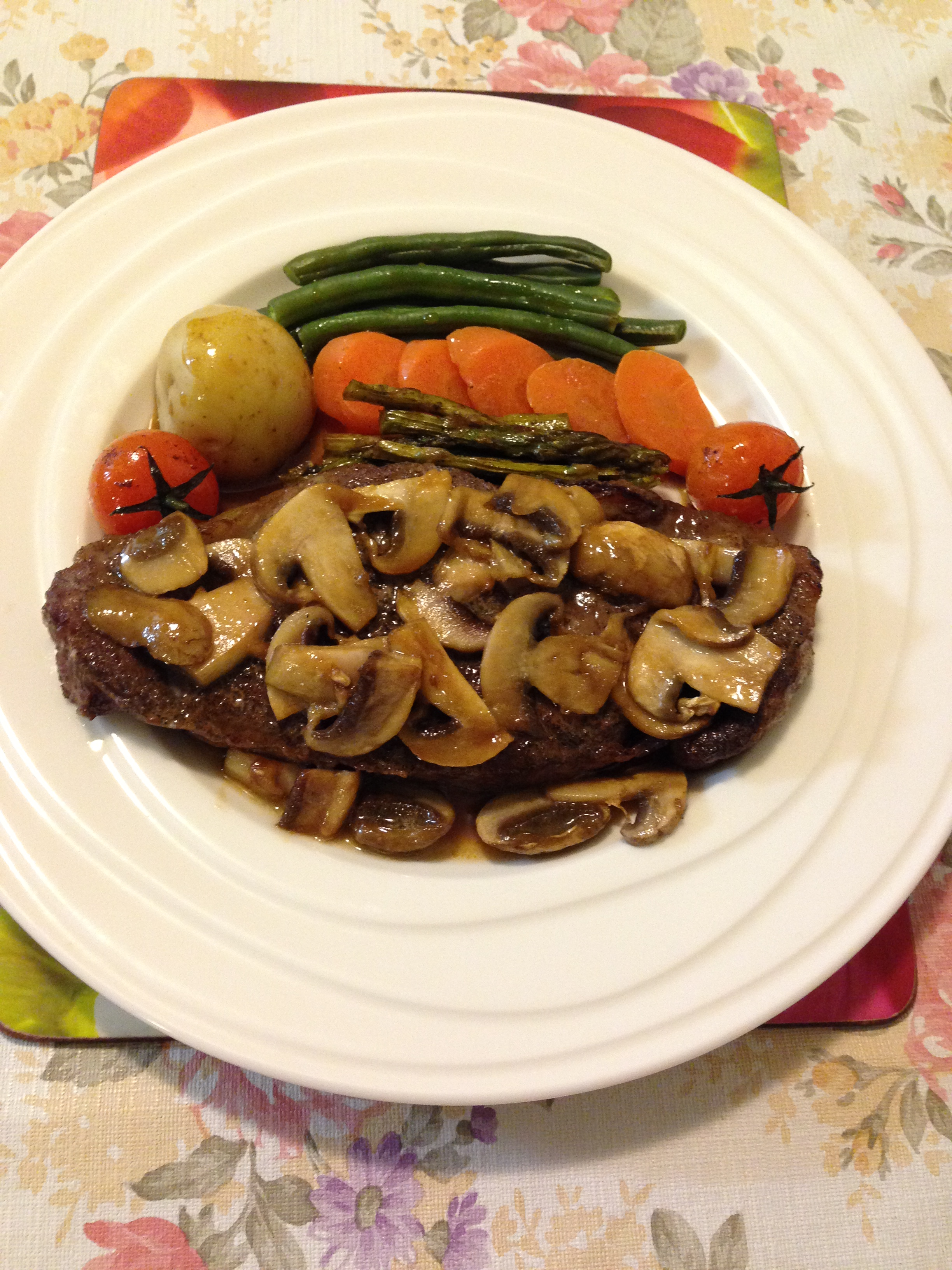 Porterhouse, vegetables w butterscotch sauce.jpg