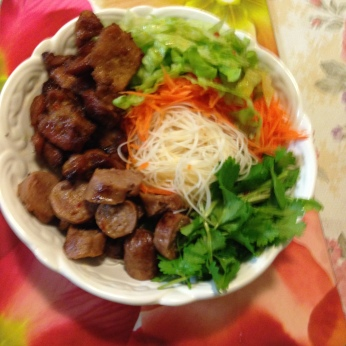 Rice vermicelli grilled pork and vegetables.jpg