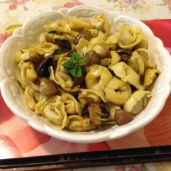 Beef tortellini, mushroom in burnt herbs and butter sauce.jpg