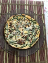 Asparagus and Asian chives Strata