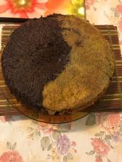 Ying yang choco matcha custard cake.JPG