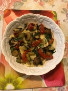 Beef ravioli mushrooms and zucchini with semi dried tomatoes.JPG