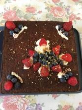 Craisin, dates double and sour cream cake