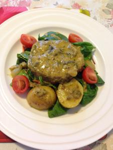 Herbs orange mustard silverside ribeye w salads