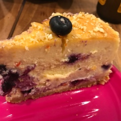 Sweet chilli blueberries cheesecake cut up.JPG