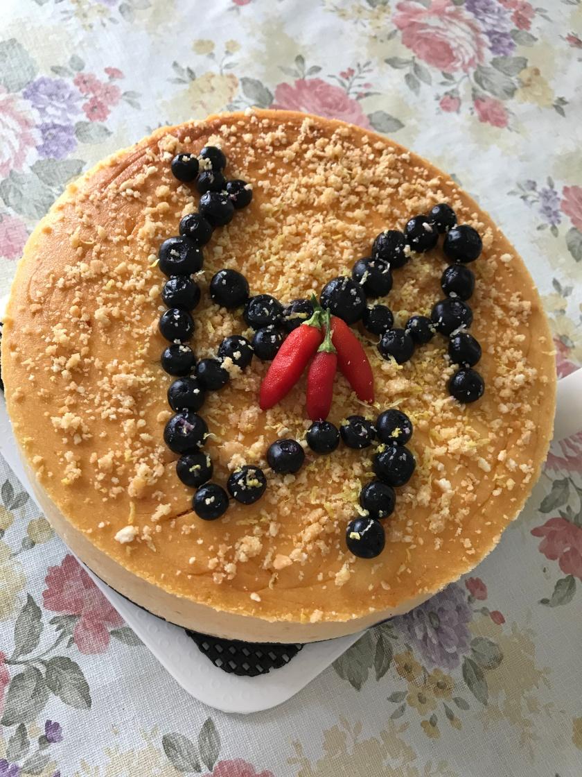 Sweet chilli blueberries cheesecake.JPG