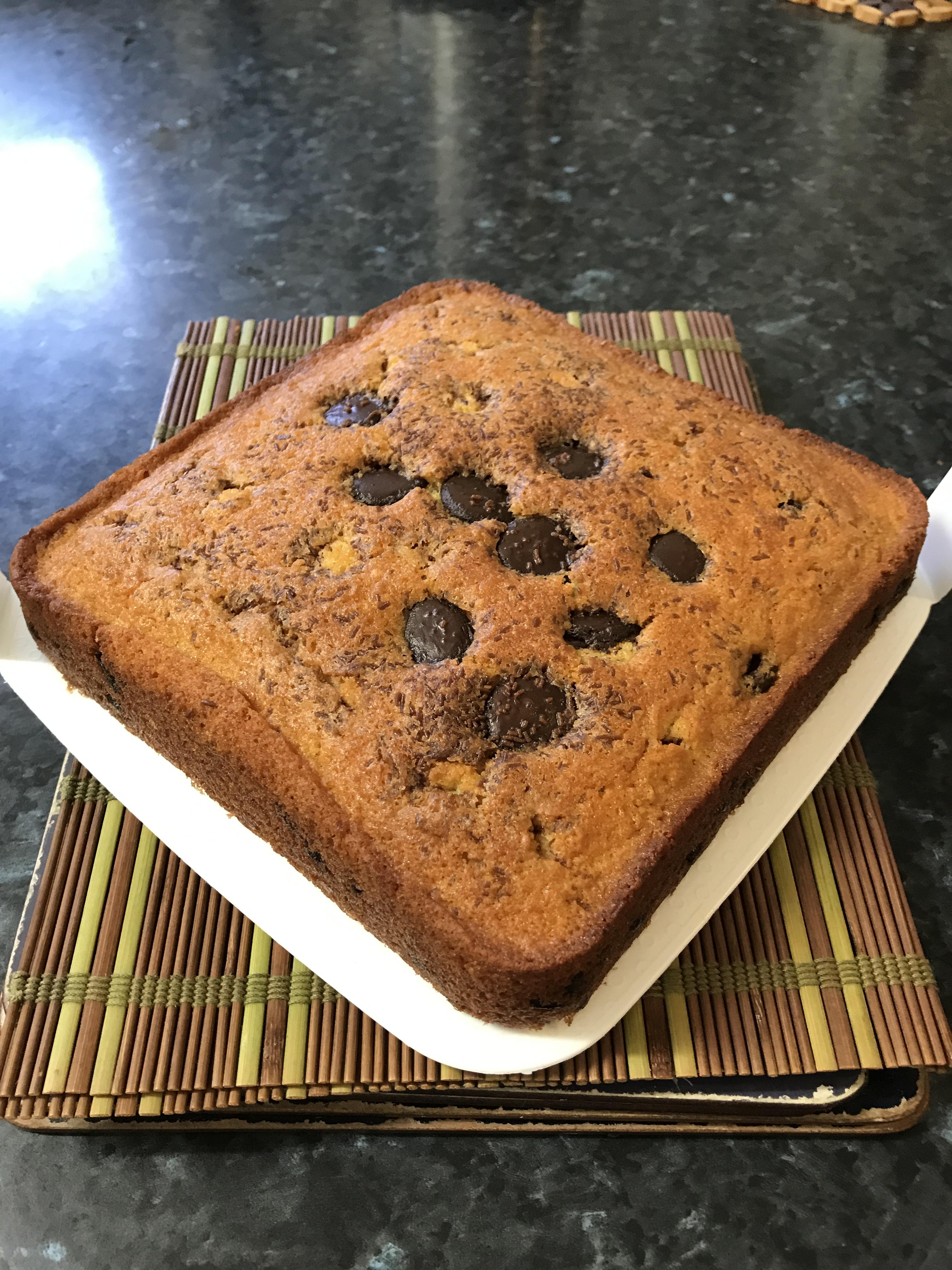 Chocolate craisins butter cake.JPG