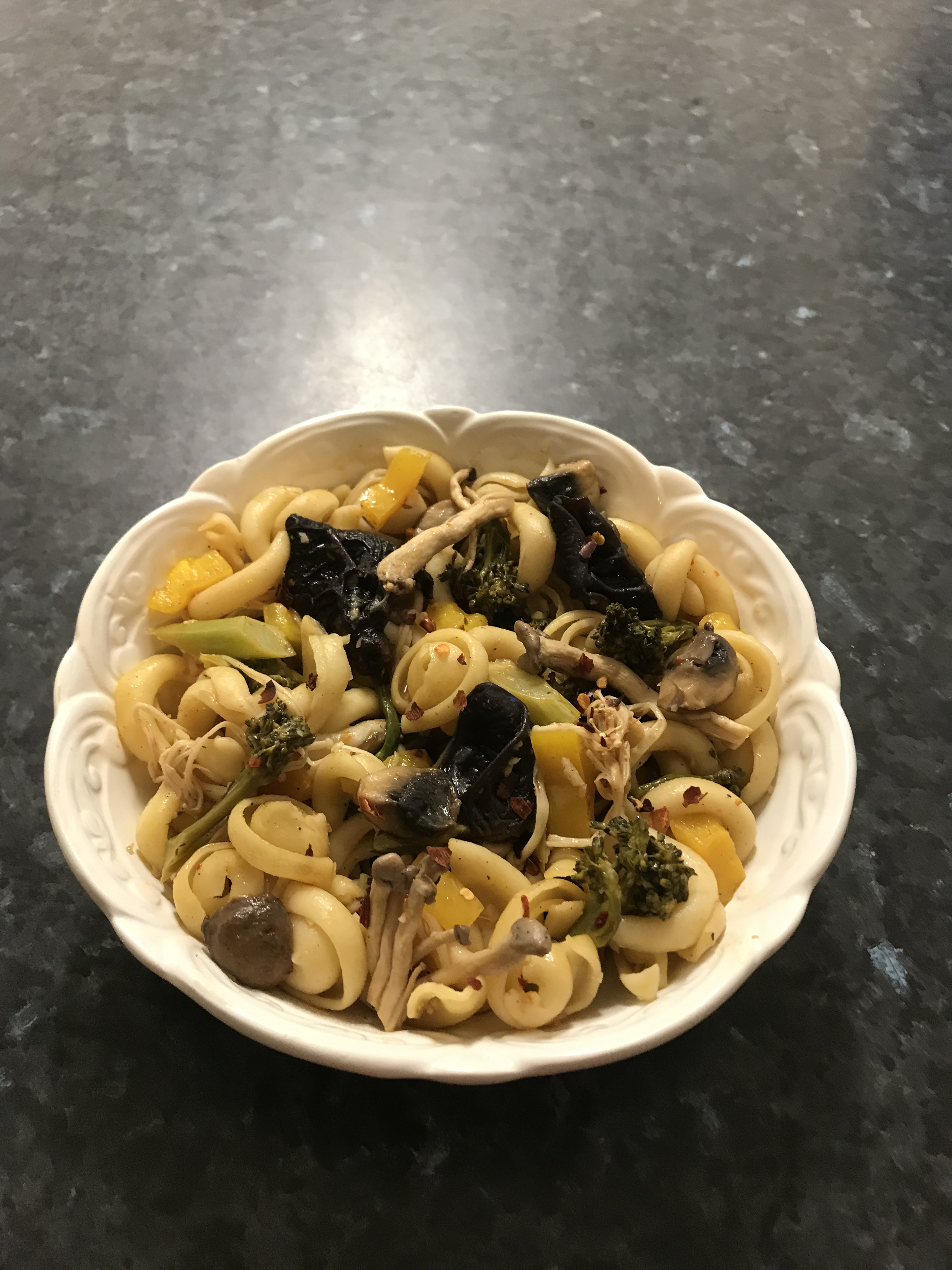 orrechiette mushrooms and vegetables in sambal chicken sauce.jpg