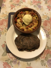 Baked veg w mashed potato and stuffed kale Scotch fillet.JPG