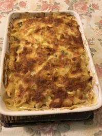 Baked penne chunky chicken and vegetables.JPG