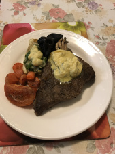 Rump and vegetable with bernaise sauce.JPG