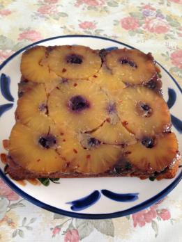 Blueberries pineapples chili upside down cake.jpg