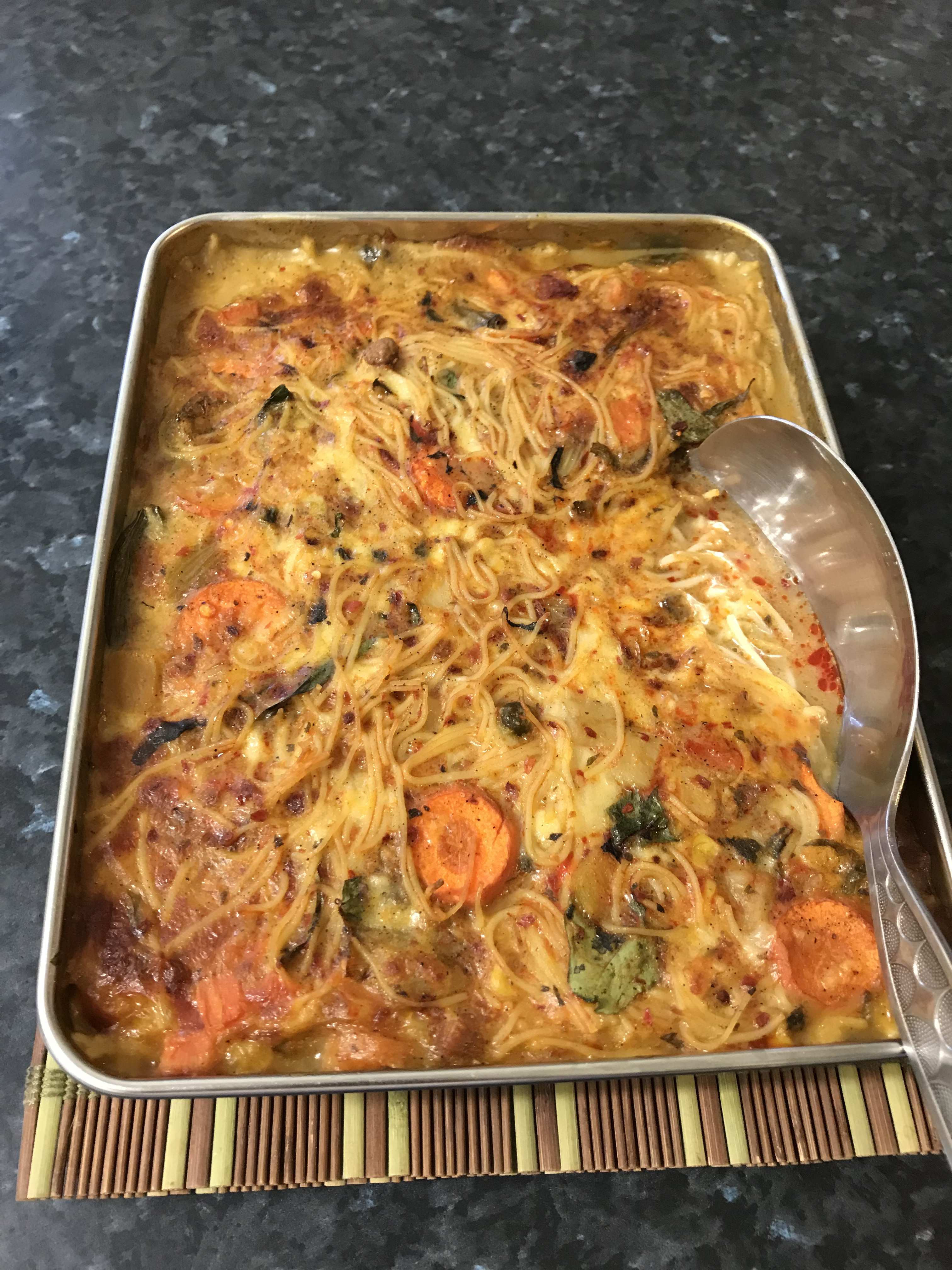 Egg vermicelli noodles with vegetables.JPG