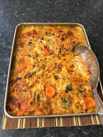 Egg vermicelli noodles with vegetables.JPG