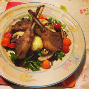 Made  it with fresh salad, tomatoes cherries and boiled potatoes - Helen