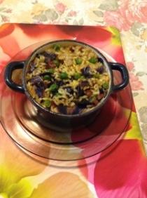 Mini chorizo and vegetables paella