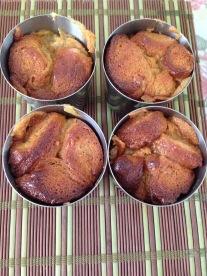 Dariols white chocolate croissant pudding