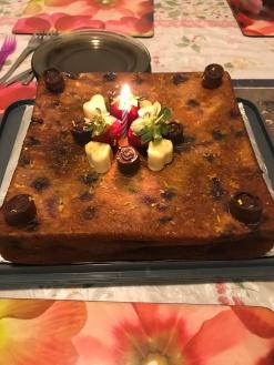 Berries and orange cake
